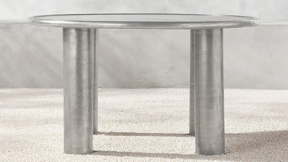 Matias Cast Aluminum Dining Table - Image 1 of 5