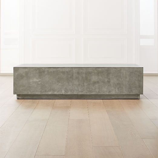 Matter Grey Cement Rectangle Coffee Table