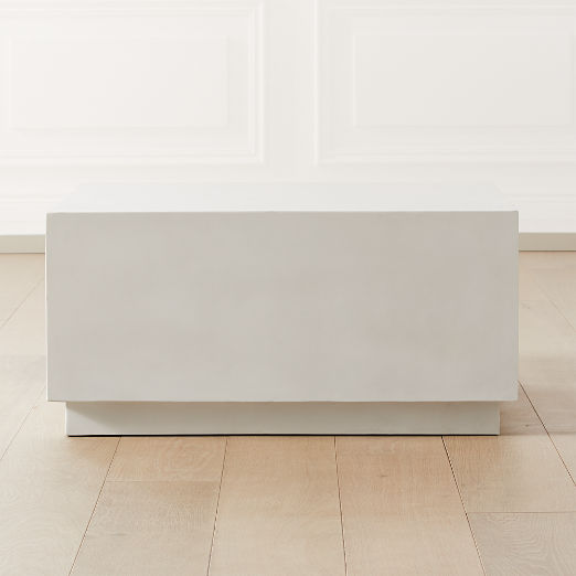 Matter Ivory Cement Square Coffee Table