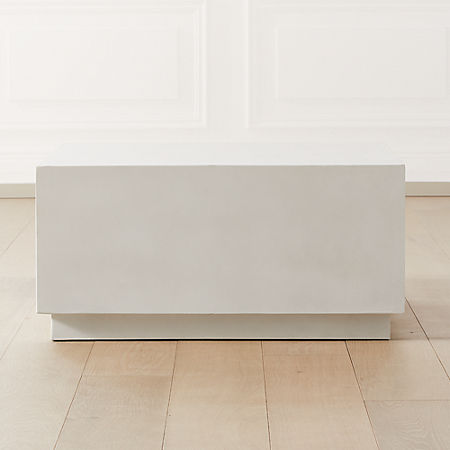 Matter Ivory Cement Square Coffee Table Reviews Cb2 Canada