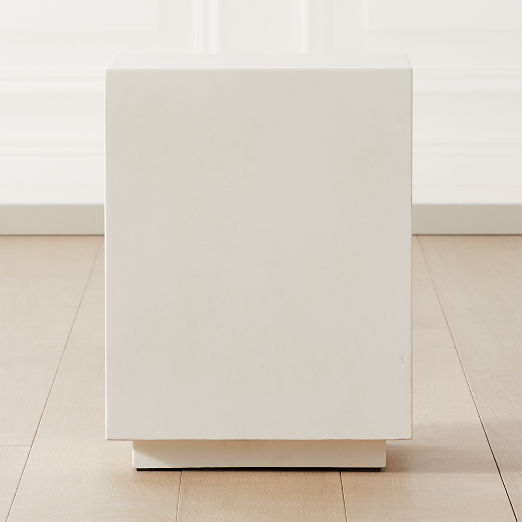 Matter Ivory Cement Square Side Table