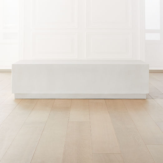 Matter Ivory Cement Rectangle Coffee Table