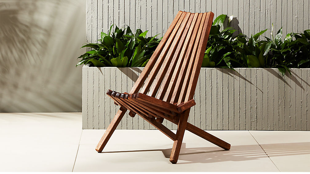 Maya Outdoor Wooden Chair Reviews CB2