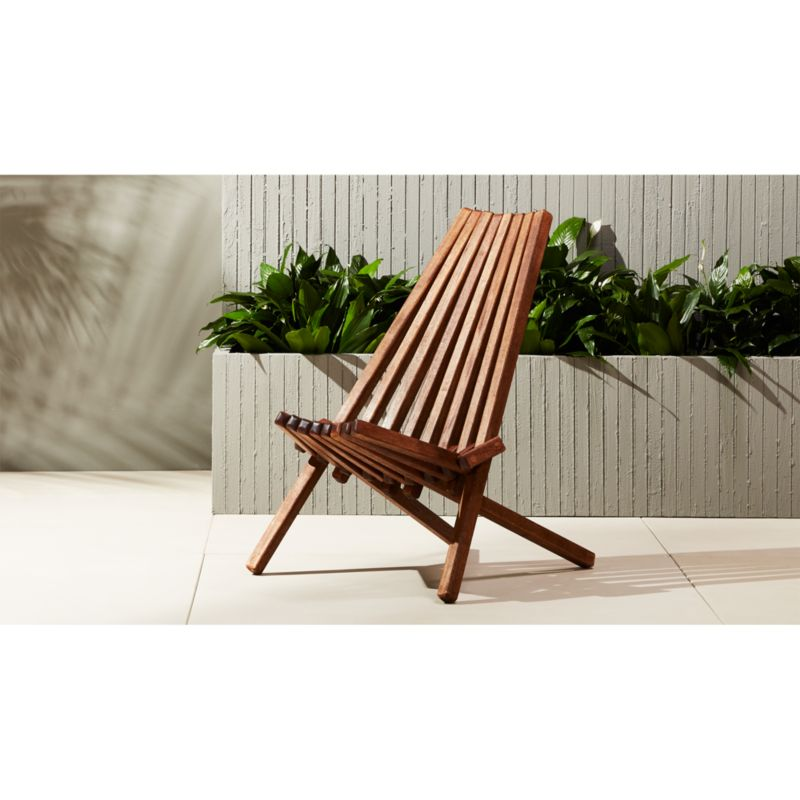 maya outdoor wooden chair Reviews CB2