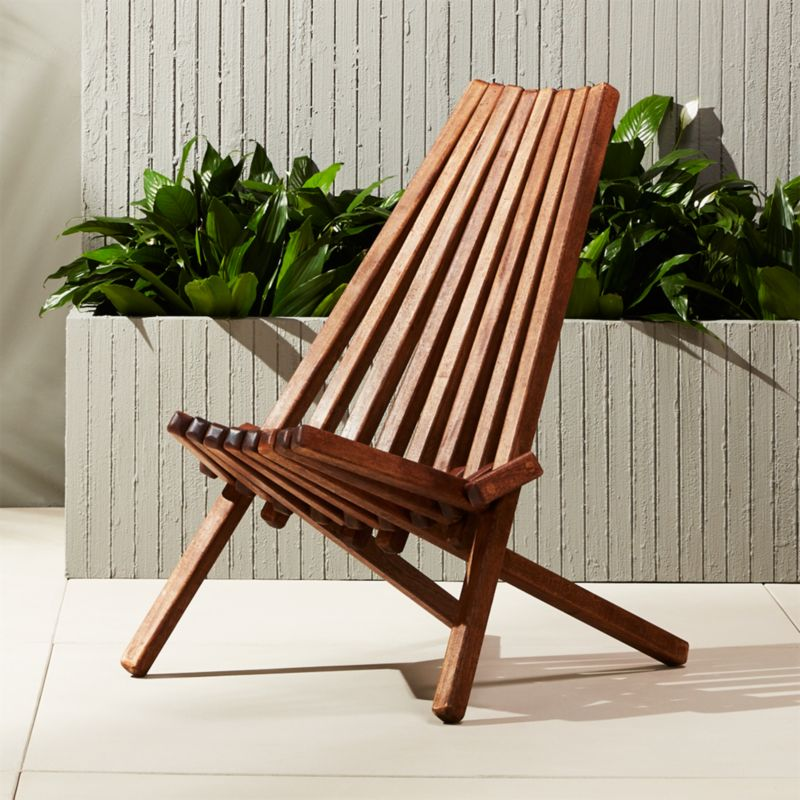 Gentil Maya Outdoor Wooden Chair + Reviews | CB2