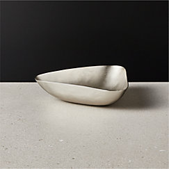 Mel Small Brushed Silver Bowl
