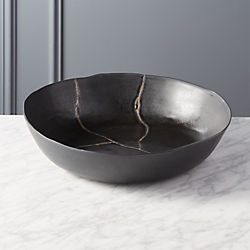Mend Metallic Black Serving Bowl