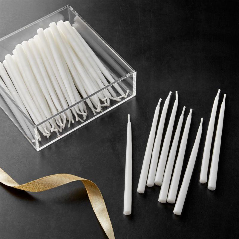 White Menorah Candles Set Reviews