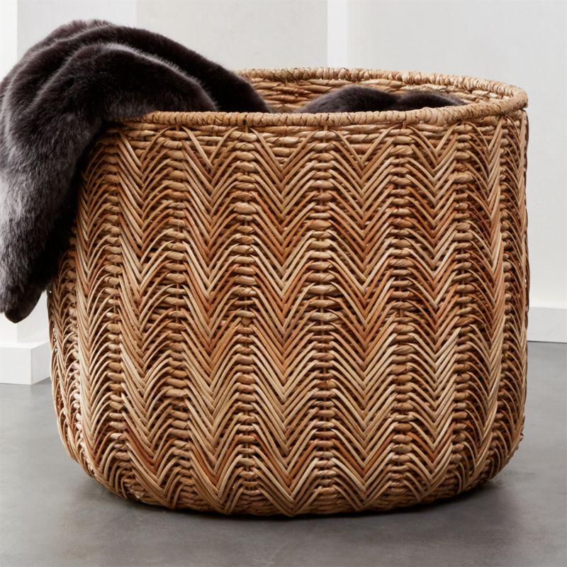 Bathroom Storage Baskets Cb2