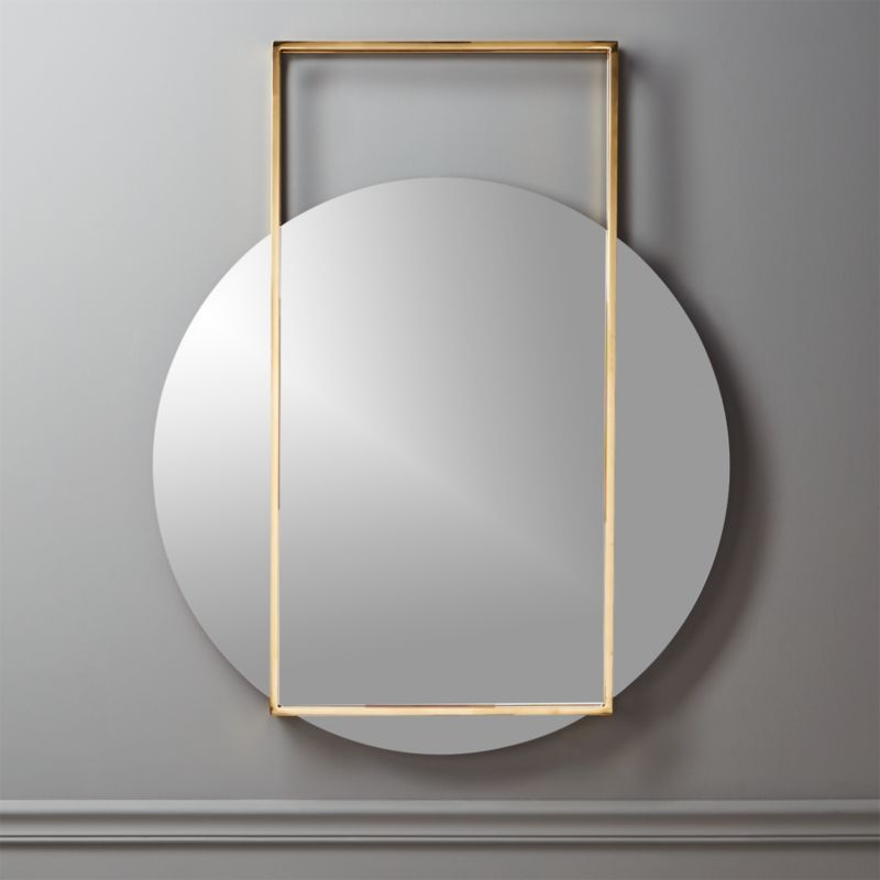 Pendulum Gold Wall Mirror
