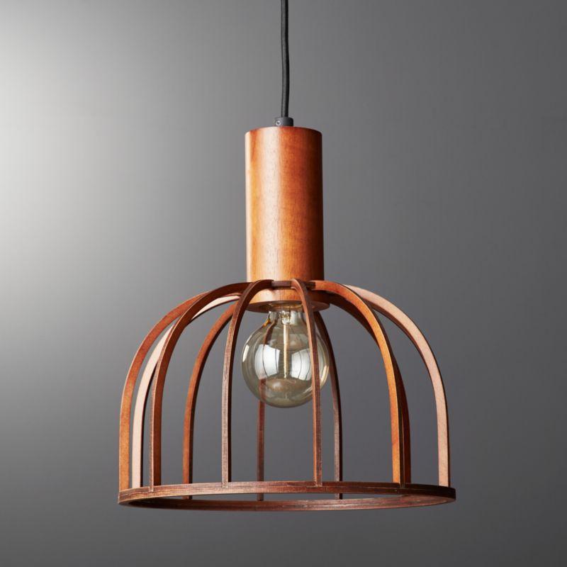 Wood pendant light cb2 aloadofball Gallery