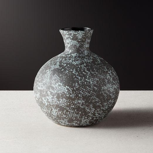Messina Black Snake Print Vase