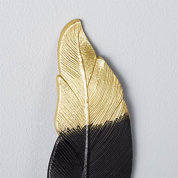 set of 3 metal feathers + Reviews | CB2
