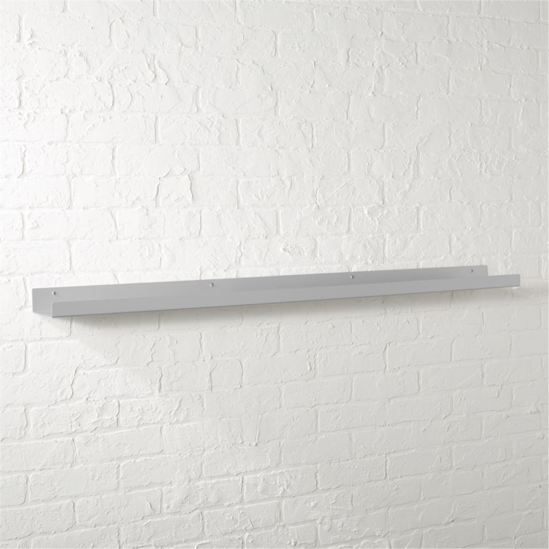 Metal Aluminum Wall Shelf 48 Quot Reviews Cb2