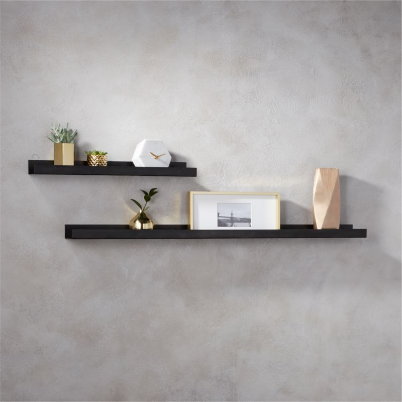 gunmetal metal wall ledge cb2 rh cb2 com pictures of wooden wall shelves images of wall shelves