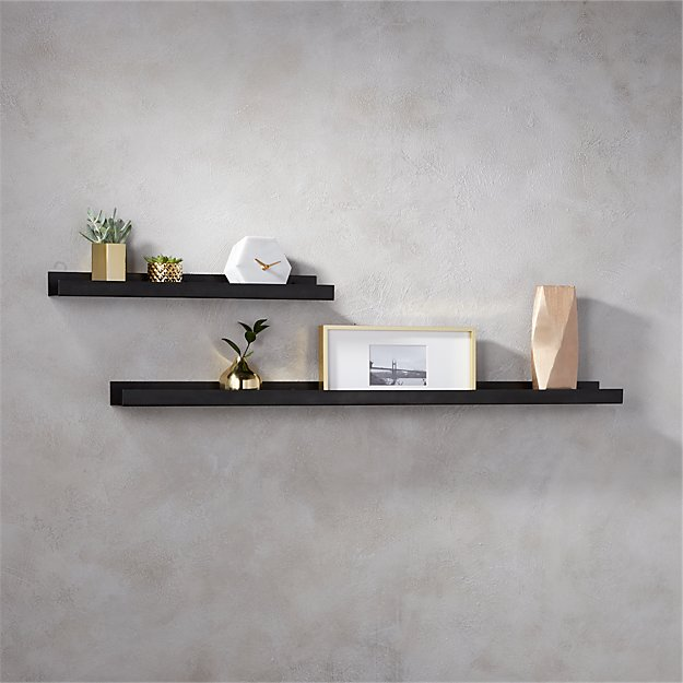 Kitchen Metal Wall Shelf: Gunmetal Metal Wall Ledge