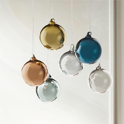 Metallic Pastel Ornaments Set of 6
