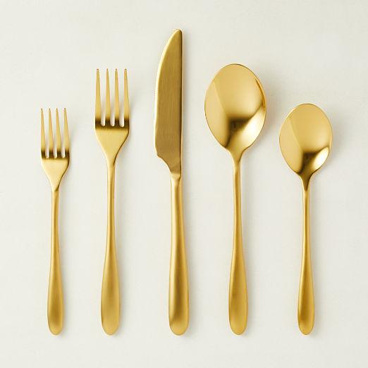 20 Piece Mezzanine Gold Flatware Set
