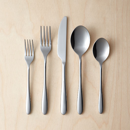 20-Piece Mezzanine Shiny Silver Flatware Set