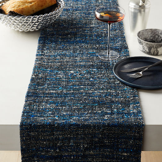 Midnight Tweed Table Runner