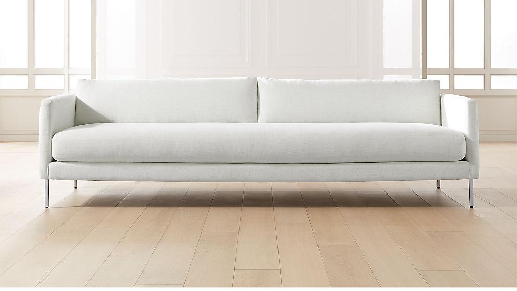 Midtown Linen Slim Sofa - Image 1 of 8