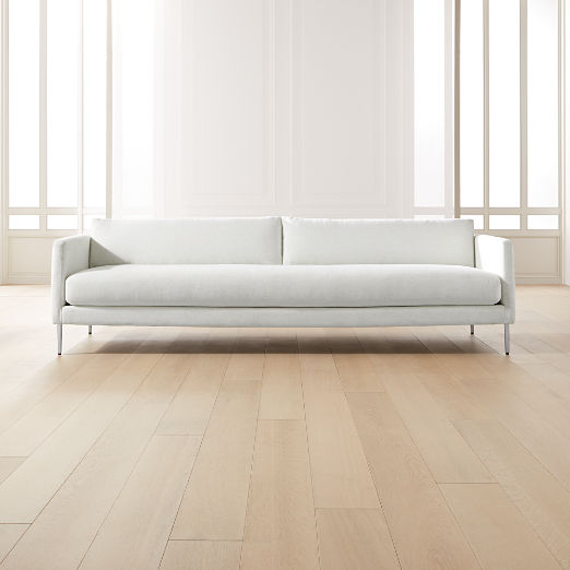 Midtown Linen Slim Sofa
