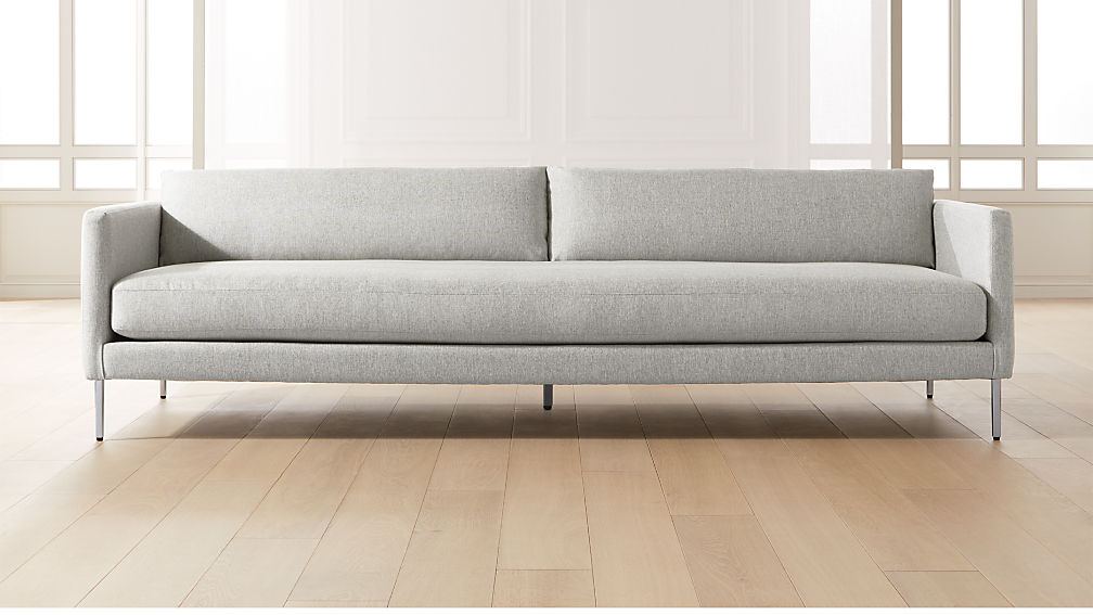 Midtown Platinum Slim Sofa - Image 1 of 6