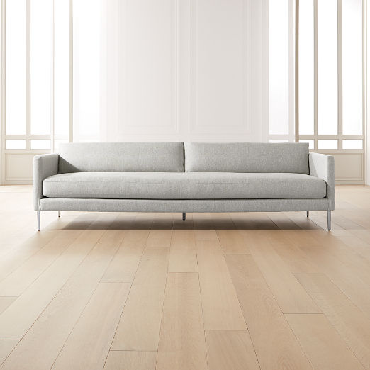 Midtown Platinum Slim Sofa