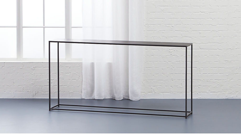 Unique mill narrow console table + Reviews | CB2 DC06