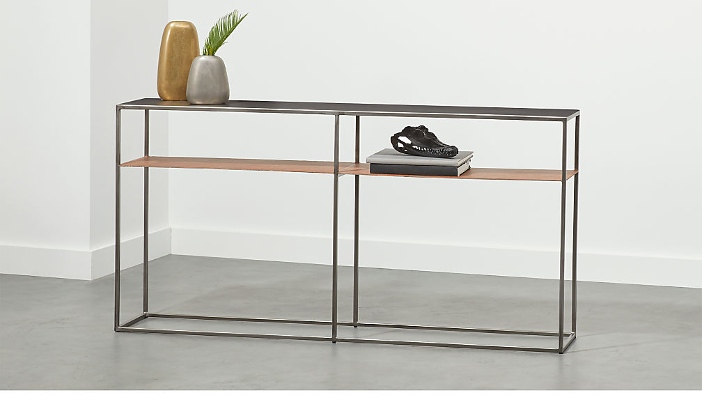Mill Leather Console Table + Reviews | CB2