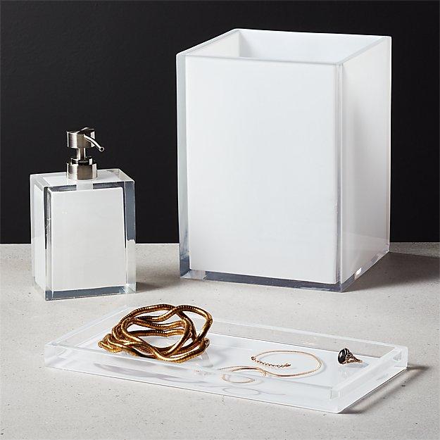Millenium White Bath Accessories - Image 1 of 7