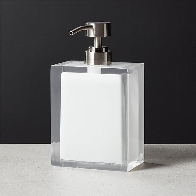 Millenium White Soap Pump - Image 1 of 8