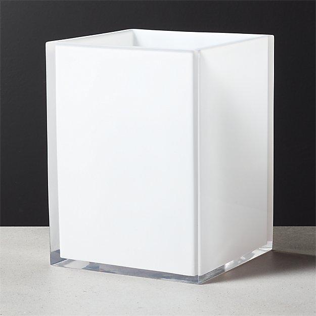 Millenium White Waste Basket - Image 1 of 8