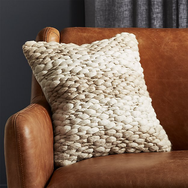 """16"""" Millie Knit Pillow - Image 1 of 6"""
