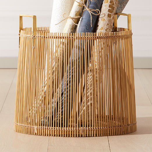Mina Brass and Bamboo Basket
