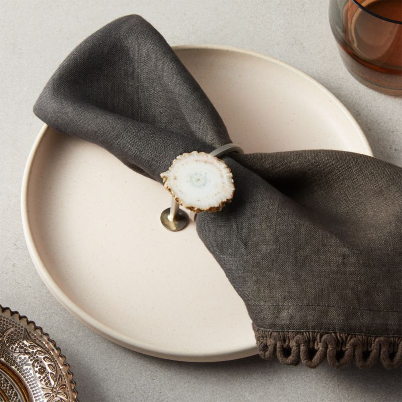 Mineral Agate Napkin Ring Reviews Cb2