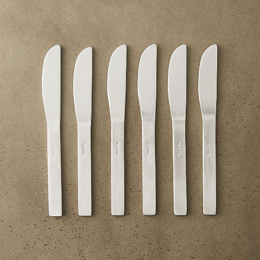 Set of 6 Mini Stainless Steel Cocktail Spreaders