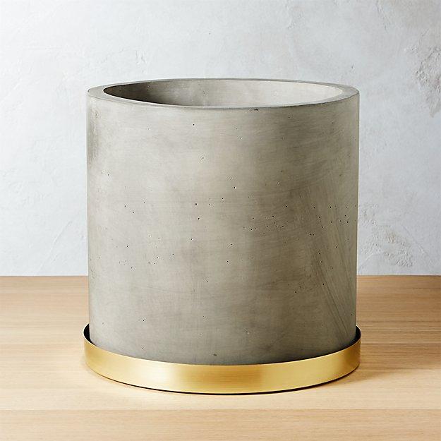Moda Large Cement Planter - Image 1 of 9