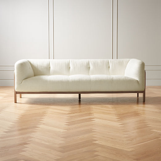 Moet White Tufted Sofa