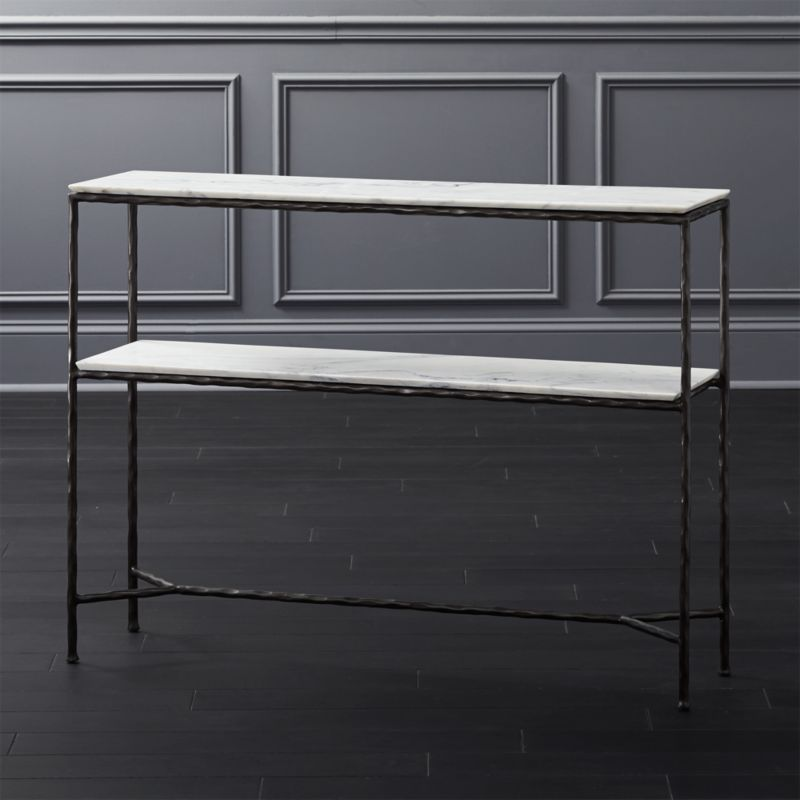 Gentil Molten Marble Console Table