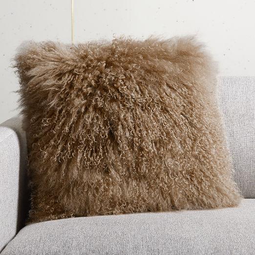 "16"" Mauve Mongolian Pillow"