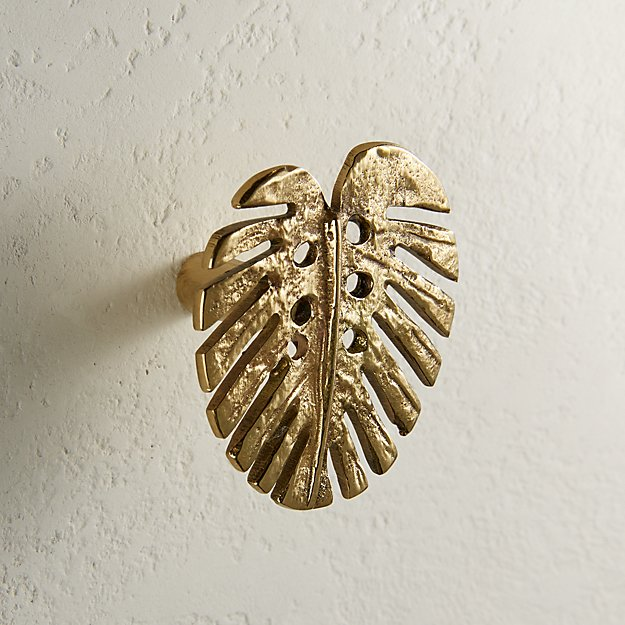 Monstera Knob Polished Brass - Image 1 of 3