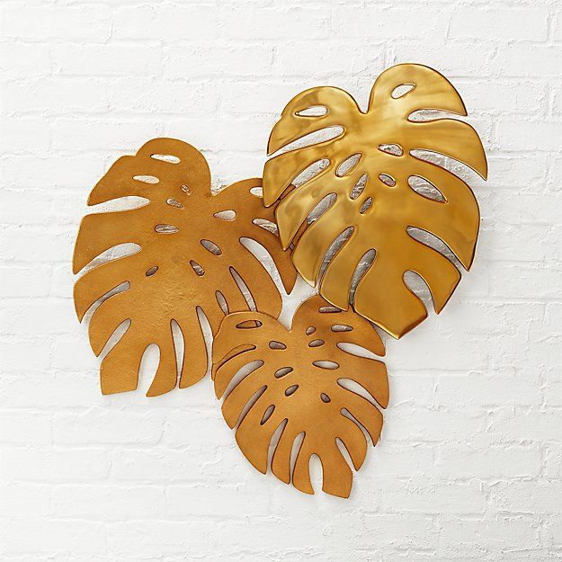 Top Monroe Monstera Leaves Wall Decor + Reviews | CB2 CX06