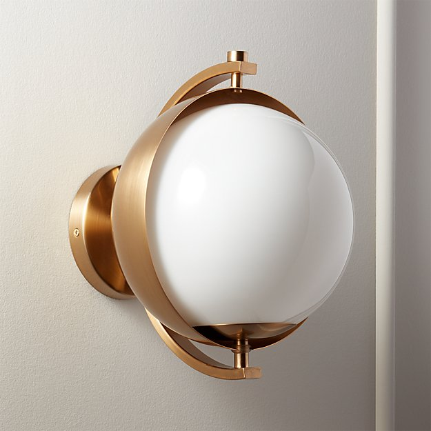 Moon Hanging Sconce Brass - Image 1 of 12