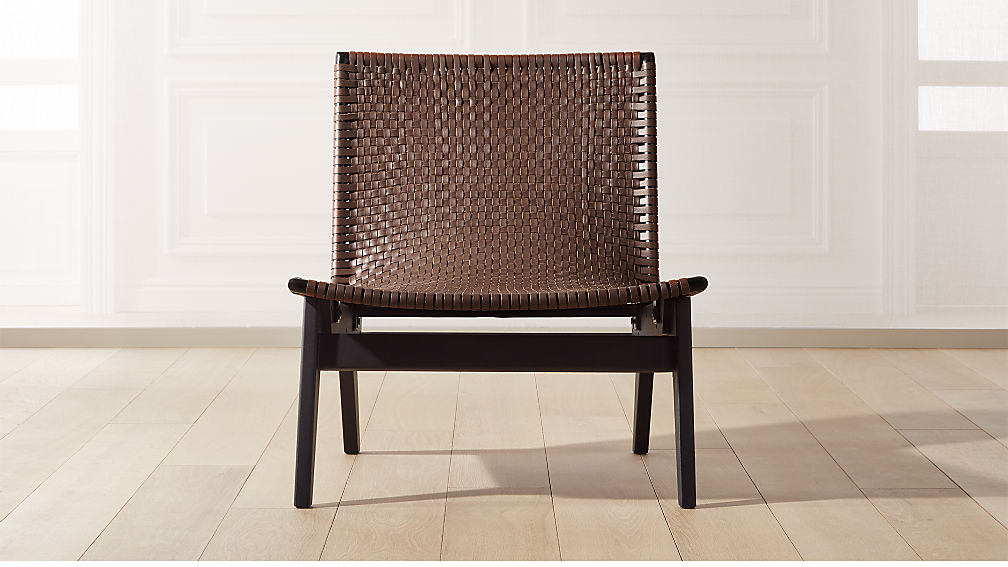 Stupendous Morada Leather Weave Chair Inzonedesignstudio Interior Chair Design Inzonedesignstudiocom