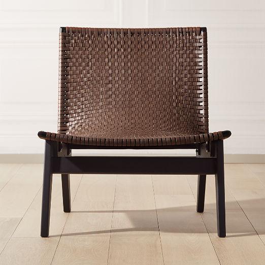 Morada Leather Weave Chair