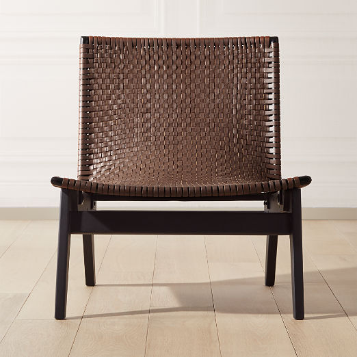 Morada Leather Weave Chair