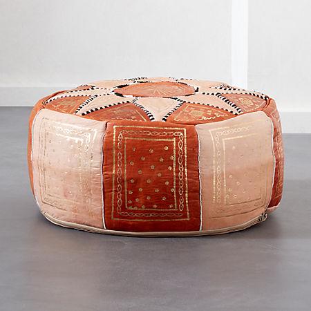 Pleasing Moroccan Leather Pouf Dailytribune Chair Design For Home Dailytribuneorg