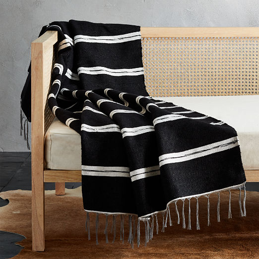 Fringed Throw Blankets | CB2