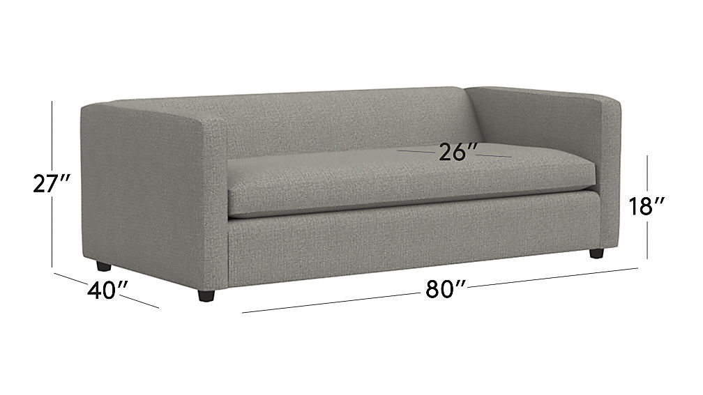 Movie Salt And Pepper Queen Sleeper Sofa Reviews Cb2